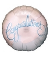 "18"" Congratulations Pastel Colors Mylar Balloon"